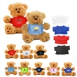6  Plush Teddy Bear With Choice of T-Shirt Color