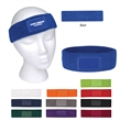 Sweatband With Patch - 100% cotton terry cloth sweatband with patch available in 11 product colors