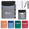 "5"" x 7"" Tri-Pocket Notebook & Satin Pen"