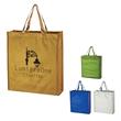 Metallic Non-Woven Shopper Tote Bag - Metallic Non-Woven Shopper Tote Bag.  Made Of 80 Gram Laminated Non-Woven, Coated Water-Resistant Polypropylene.  Recyclable.