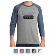 District Made® Men's Perfect Tri™ 3/4-Sleeve Raglan - Men's Perfect Tri 3/4 Sleeve Raglan