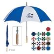 "60"" Arc Golf Umbrella - Golf umbrella with metal shaft and wood handle."