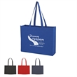 "Non-Woven Shopper Tote Bag With Hook And Loop Closure - Non-Woven Shopper Tote with hook and loop closure.  Made of 80 Gram Non-Woven, Coated Water-Resistant Polypropylene.  30"" Handles."