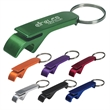 "Aluminum Bottle/Can Opener Key Ring - Aluminum Bottle/Can Opener Key Ring.  Opens Bottles and Flip-Top Cans.  Approx. Size:  2 1/2""."
