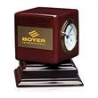 Rosewood Swivel Clock