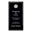 "Black Plaque - 6"" x 12"" - Black Plaque - 6"" x 12"". Can be displayed via wall mount or stand-alone."