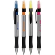 Gemini Pen Highlighter Combo - Plunger action ball point pen and highlighter combo. Black ink with medium point.