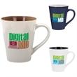 Designer Two-Tone Mug - 14 oz - Ceramic two-tone mug with glossy finish, 14 oz.