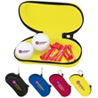 "Sunglasses Case- Titleist® DT®TruSoft - Sunglasses case with 2 imprinted golf balls and 10 imprinted 2 3/4"" tees."