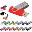Folding USB 2.0 Flash Drive - Folding 2.0 flash drive. Unattached black lanyard included.