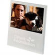 """4"""" x 6"""" Brushed Aluminum Frame - Brushed aluminum frame with cardboard back. Holds 4"""" x 6"""" photo."""