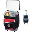 Koozie® Two-Compartment Rolling Kooler - Two-compartment rolling kooler features a dual compartment, zippered main compartment and top compartment for additional storage.