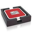 """Square Coasters with Wood Tray - Two - Square Coasters with Wood Tray - Two. 4-3/4""""w x 4-3/4""""h x 1-1/8""""d."""
