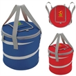 Koozie® Collapsible Kooler - Collapsible kooler with main zippered compartment featuring a top hook-and-loop opening.