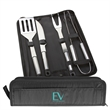 4pc BBQ Set - This 4 piece barbecue kit includes stainless steel grilling tools.