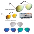 Color Mirrored Aviator Sunglasses - Color Mirrored Aviator Sunglasses. UVA400 Lenses Provide 100% UVA And UVB Protection.