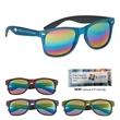 Woodtone Mirrored Malibu Sunglasses - Woodtone Mirrored Malibu Sunglasses. Made Of Polycarbonate Material.  Iridescent Mirrored Lenses.