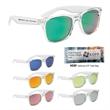 Crystalline Mirrored Malibu Sunglasses - Mirrored sunglasses with UV400 protection.