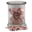 Starlight Peppermints in a Large Round Glass Jar with Lid - Starlight Peppermints in a Large Round Glass Status Jar with Lid