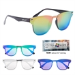 Outrider Polarized Panama Sunglasses - Polarized sunglasses made of polycarbonate material with shield mirrored lenses that provide UV-ray protection.