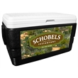 52 Quart Ice Chest with Hook and Stag Wrap - 52 quart ice chest with camouflage wrap.