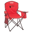 Coleman Cooler Quad Chair - Steel-frame chair that holds up to 326 pounds with a padded seat and back, built-in cooler and mesh cup holder from Coleman