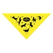 4300T Series Solid Neon Triangle Bandanna - Solid Neon Triangle Bandanna.