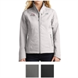 The North Face Ladies' Apex Barrier Soft Shell Jacket - Ladies' soft shell jacket made of 100% windproof fabric with durable water-repellent finish and left chest zip pocket