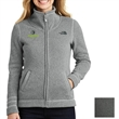 The North Face Ladies' Sweater Fleece Jacket - Jacket for ladies made of 100% polyester sweater knit with brushed fleece interior, front zipper and hand pockets