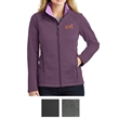 The North Face Ladies' Ridgeline Soft Shell Jacket - Soft shell jacket for ladies with brushed micro-gridded fleece interior and hem cinch-cord
