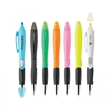 BLOSSOM BALLPOINT PEN/HIGHLIGHTER - Plastic slide-action combination ballpoint pen and highlighter in assorted colors and shades.