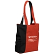 Less is More Convention tote - Polyester, two-toned classic styled tote with wide-opening and mesh pocket.