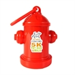Fire Hydrant Dispenser - Full Color Imprint - Fire hydrant shaped pet trash bag dispenser with 20 poly bags included and full color sticker imprint.