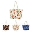 Rope Handle Canvas Tote Beach Bag Vintage Floral - Rope Handle Canvas Tote Beach Bags Vintage Floral
