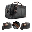 """Solo® Bayside Leather Duffel - 8.81"""" x 12.75"""" x 19.5"""" Solo Bayside leather duffel; includes 15.6"""" laptop compartment, tablet pocket, and adjustable/removable str"""