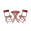 """Bistro Set - Steel Bistro set with pair of 32"""" x 16"""" chairs and 24"""" x 28"""" table."""