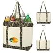 Camo Canvas Cooler Tote Bag