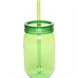 24 oz plastic mason jars with straw