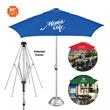 The Vented Cafe Market Patio Umbrella - Cafe/market style patio umbrella with 7' vented canopy arc.