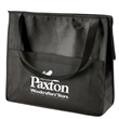"""Prescott Non-Woven Zipper Tote - Tote bag made of 80 GSM nonwoven polypropylene with two-tone design and 26"""" black handles."""