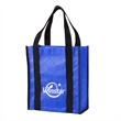 """Quilted Non-Woven Gift Tote - Tote bag made of 160 GSM nonwoven polypropylene with front pocket and 14"""" black polyester handles."""
