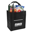 "Riptide Non-Woven Grocery Tote - Grocery tote made of 80 GSM nonwoven polypropylene with front pocket and 20"" handles."