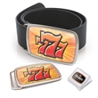Express Line Stock Rectangular Belt Buckle - Stock shape oval belt buckle with 4-color photoart label and clear lamination.