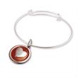 """Stock Silver Wire Bracelet with Custom Charm - Stock Silver Wire Bracelet with one Custom 1"""" Charm."""