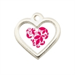 Heart Stock Charm - Add stock charms to key chains, bracelets, zipper pulls and cell phone charms.