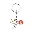 3-Charm Stock Keychain - Up to 3 stock laminated photoart charm key chain on a 28 Mm. split ring.