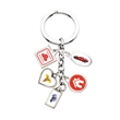5-Charm Stock Keychain - Up to 5 stock laminated photoart charm key chain on a 28 Mm. split ring.
