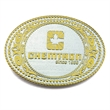 2-Tone Classic Belt Buckle (2 x 3 in) - Custom shape 2-Tone classic belt buckle.