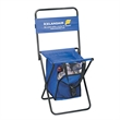 Folding chair with cooler large - Large folding chair with insulated cooler, holds 275 lbs.