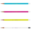 "Pencil - 7.125"" x 0.65"" plastic pencil with soft-feel surface and sleek eraser."